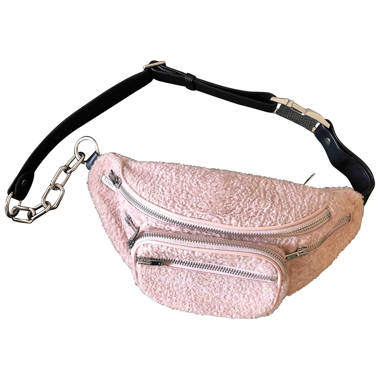 Alexander Wang Attica Handtasche in  Rosa Synthetikpelz