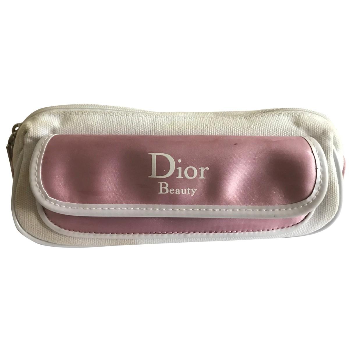 Dior - Sac de voyage   pour femme en coton - rose