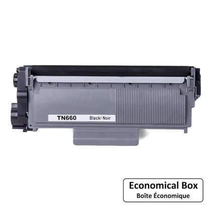 Compatible Brother TN660 Black Toner Cartridge High Yield - EcoBox