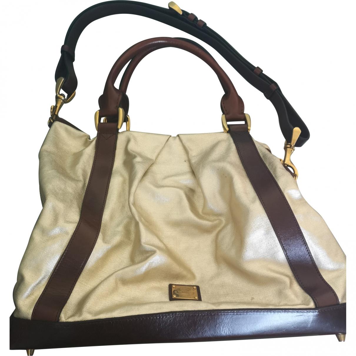 Burberry \N Handtasche in  Gold Leinen