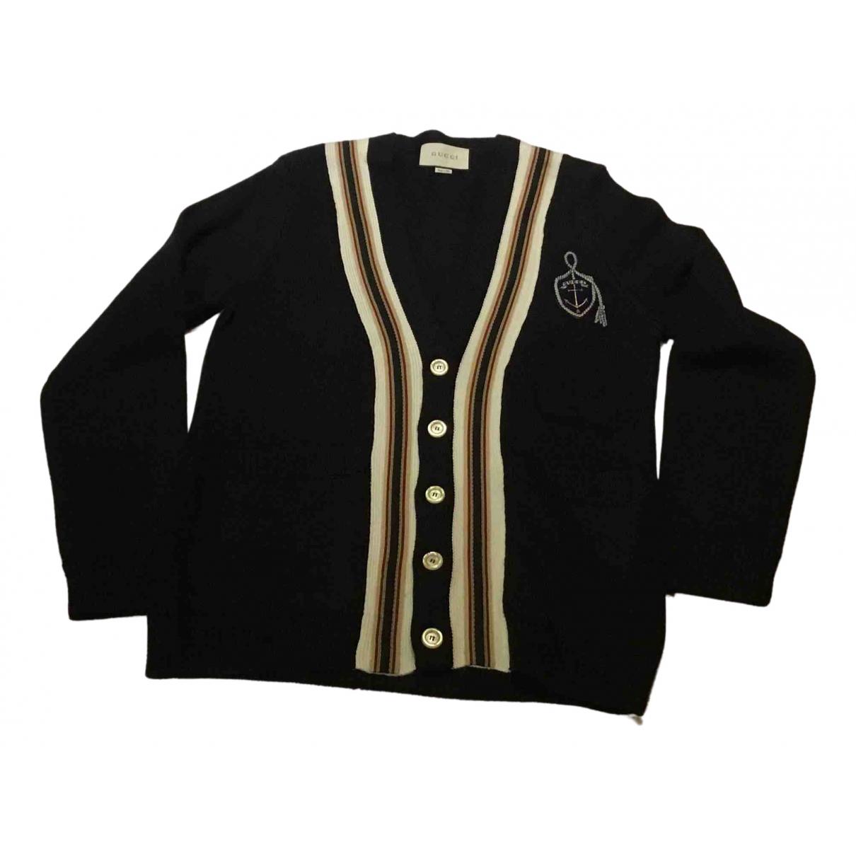 Gucci \N Pullover.Westen.Sweatshirts  in  Blau Wolle