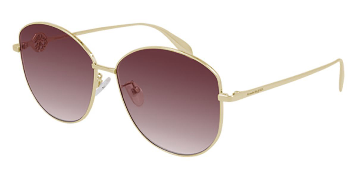 Alexander McQueen AM0288S 004 Women's Sunglasses Gold Size 62 - Free RX Lenses
