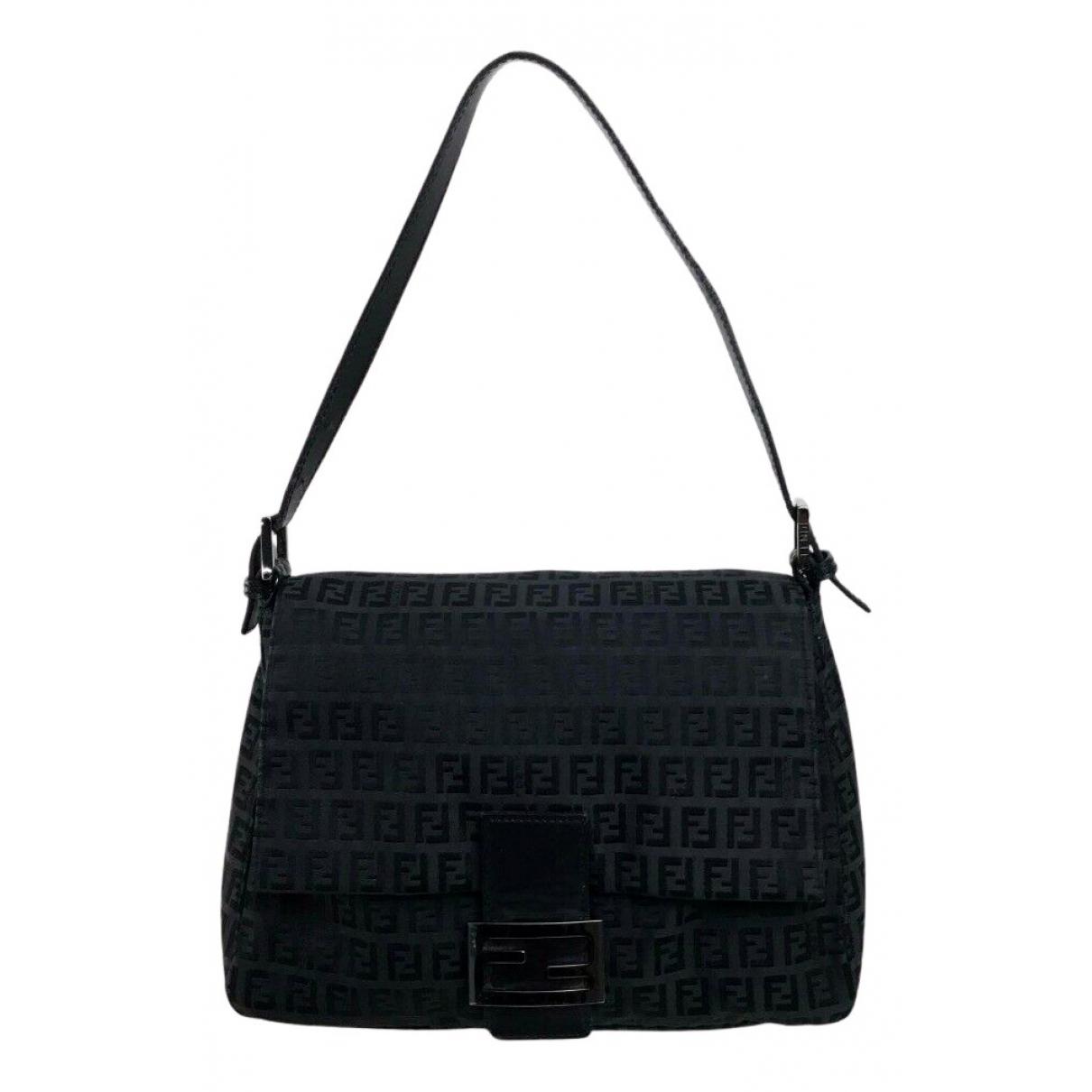 Fendi Mamma Baguette  Black Cloth handbag for Women N