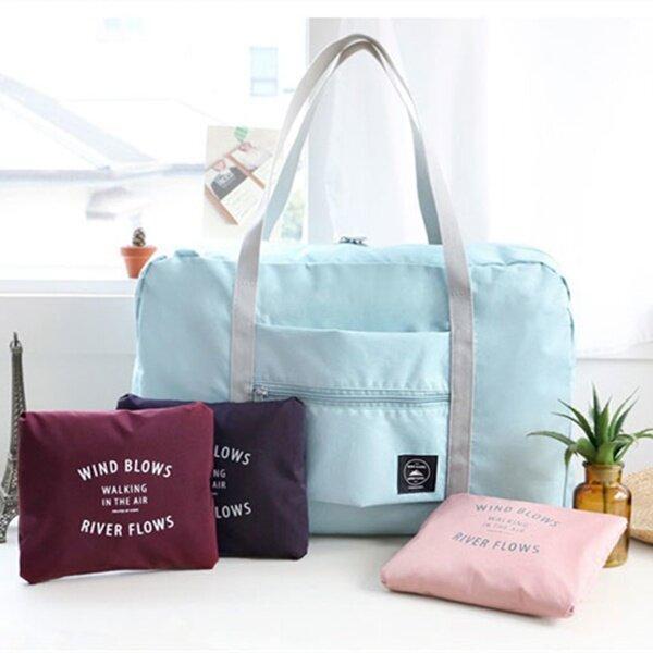 Large Travel Bag Waterproof Storage Bag Luggage Folding Handbag Shoulder Bag Storage Containers