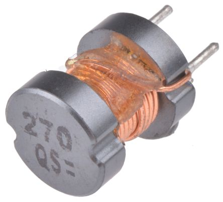Panasonic 27 μH ±10% Leaded Inductor, 3A Idc, 44mΩ Rdc, ELC10D (5)