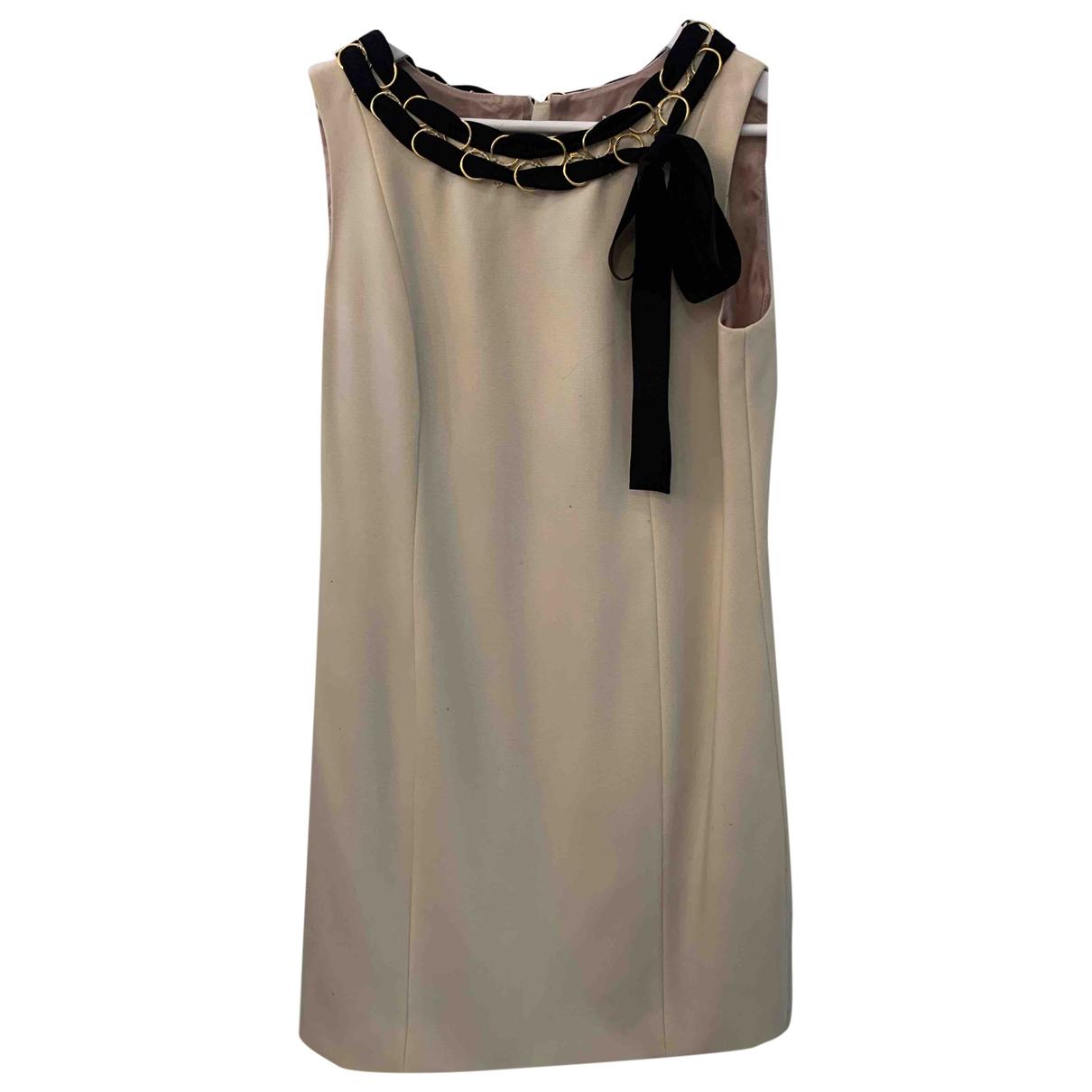 Moschino \N Kleid in  Ecru Wolle
