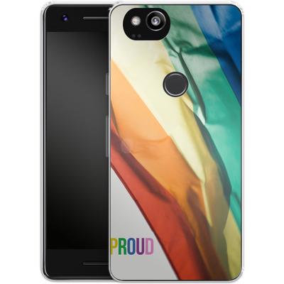 Google Pixel 2 Silikon Handyhuelle - Rainbow Flag von caseable Designs