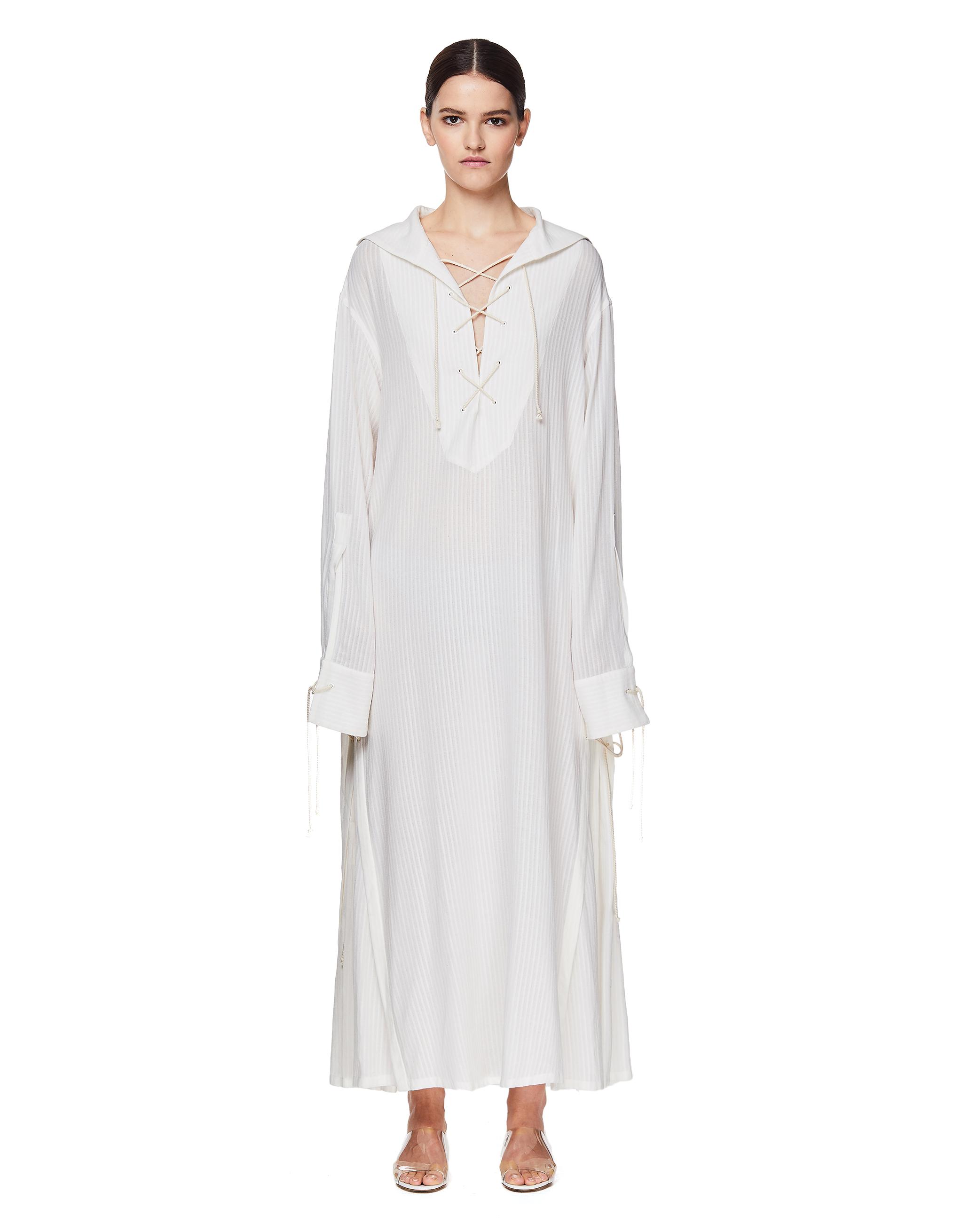 Ann Demeulemeester White Maxi Dress