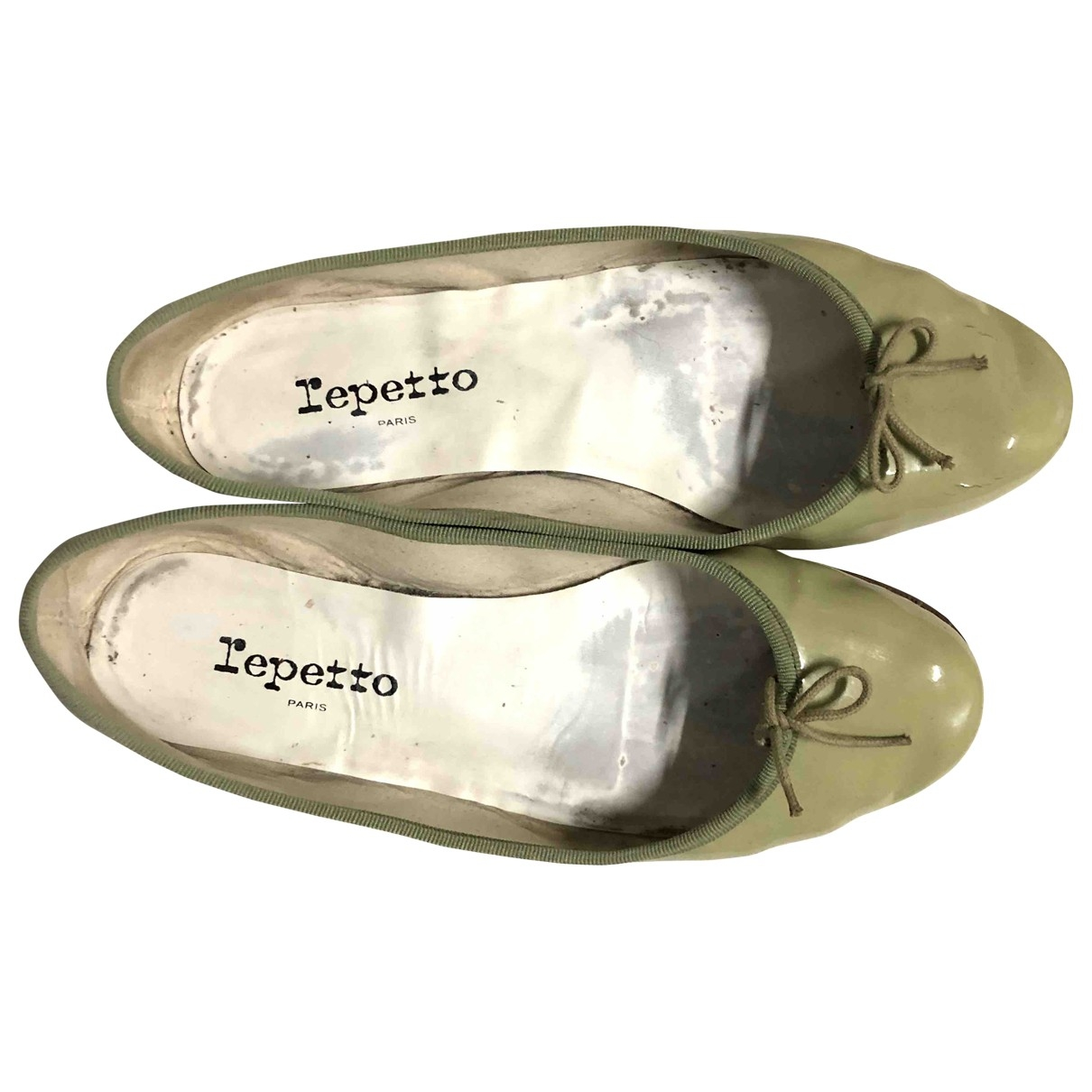 Repetto \N Green Patent leather Flats for Women 39.5 EU