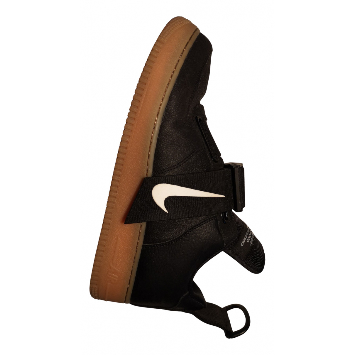 Nike - Baskets SF Air Force 1 pour homme en cuir - noir