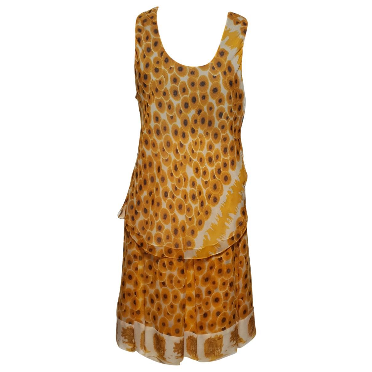 Hermes - Robe   pour femme en soie - ecru