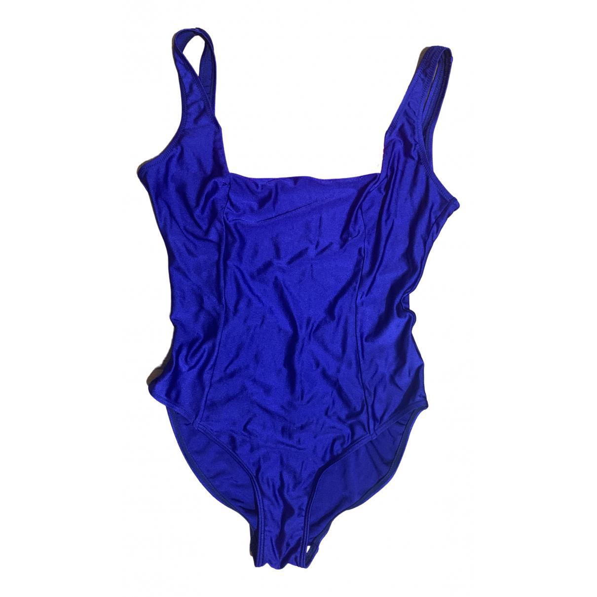 Non Signe / Unsigned \N Badeanzug in  Blau Lycra