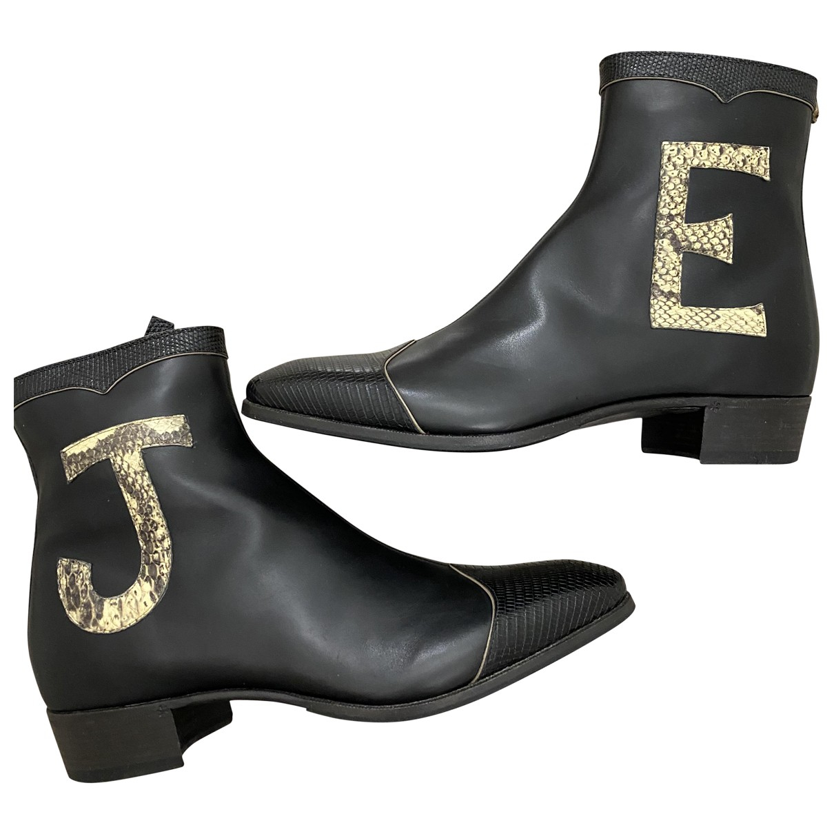 Gucci \N Black Leather Boots for Men 8 UK