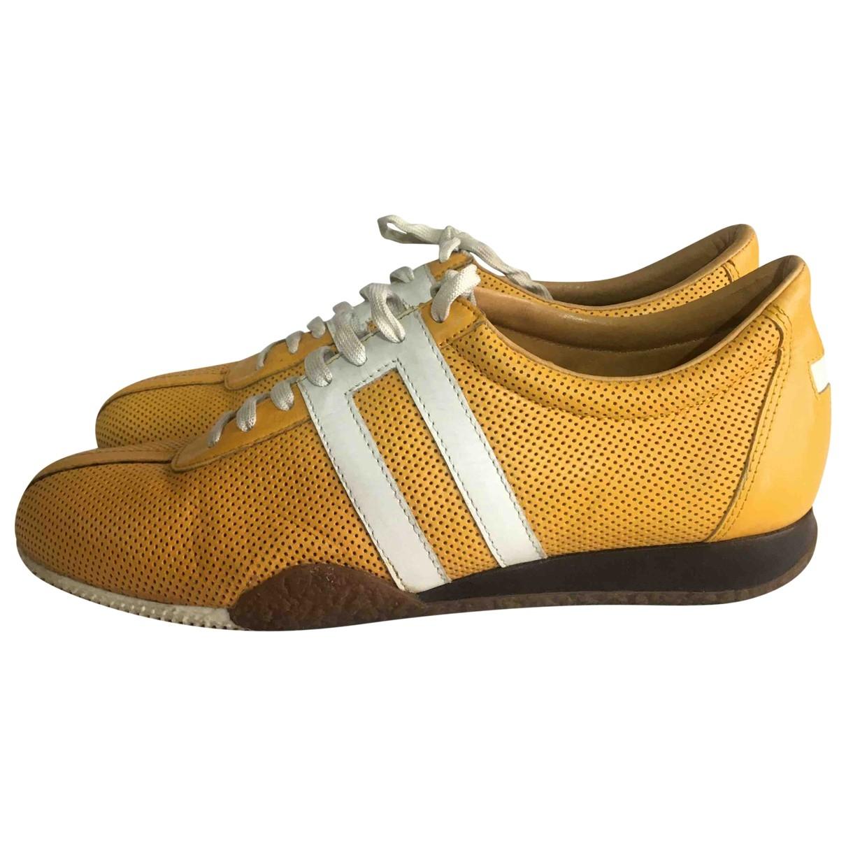 Bally - Derbies   pour homme en cuir - jaune