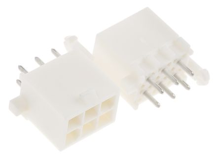 TE Connectivity , Mini-Universal MATE-N-LOK, 6 Way, 2 Row, Straight PCB Header (5)