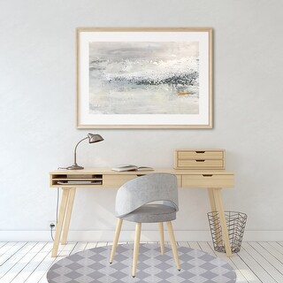 BLOCK PRINT CHECK BOARD Office Mat By Kavka Designs (White, Grey)