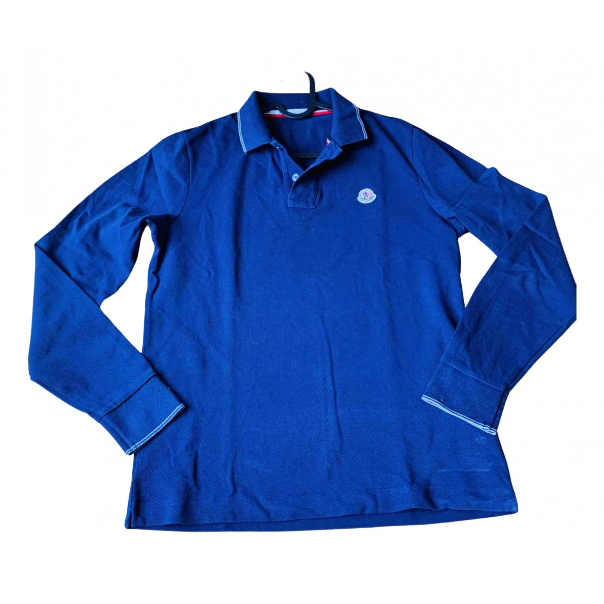 Polo en Algodon Azul Moncler