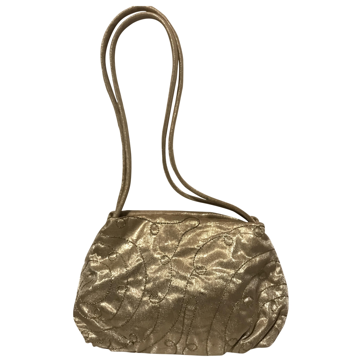 Non Signé / Unsigned \N Gold Silk handbag for Women \N