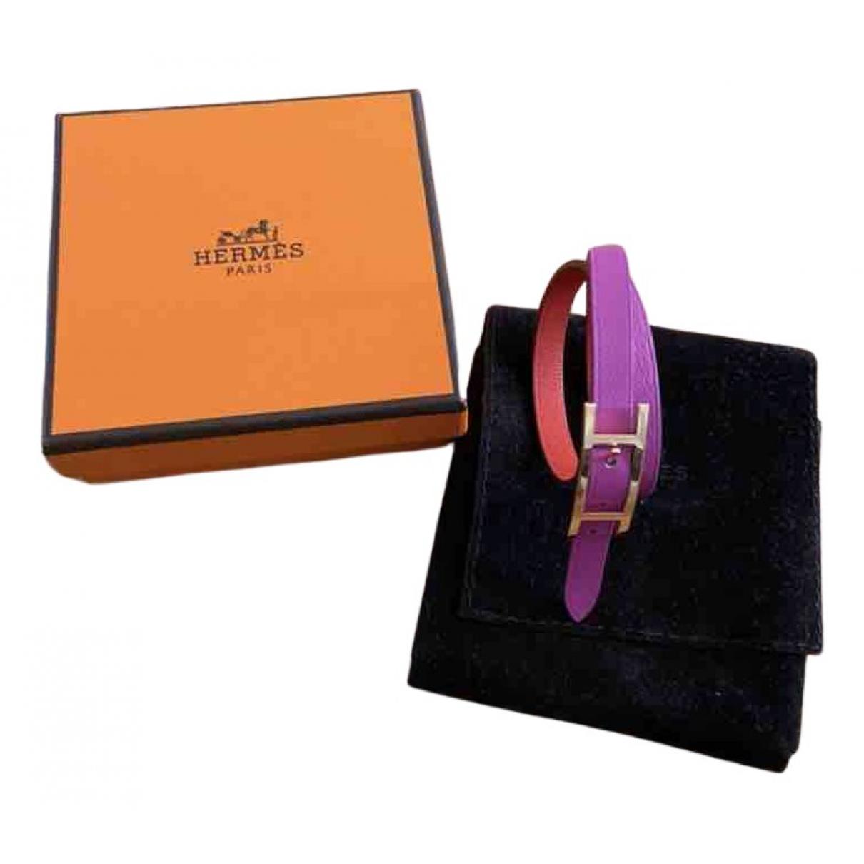 Hermes Behapi Armband in  Rosa Leder