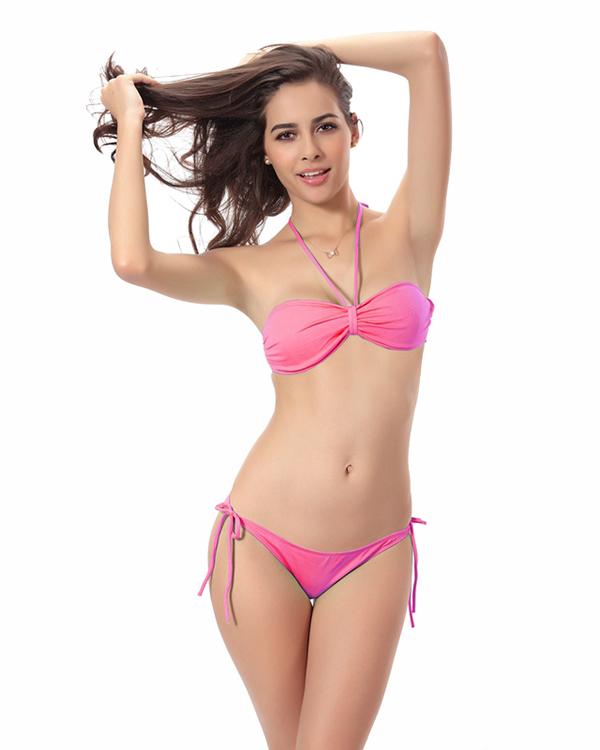 Women Wrap Halter Two-piece Swimwear Bikini Set