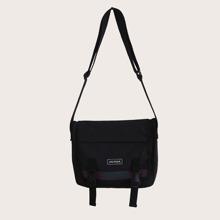 Guys Release Buckle Decor Crossbody Bag