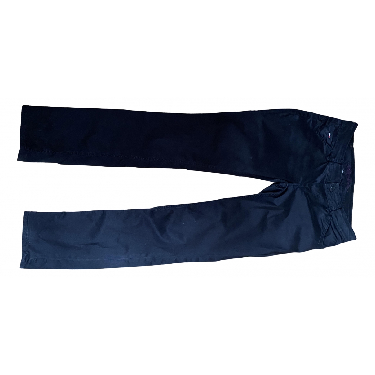 Tommy Hilfiger \N Black Cotton Trousers for Women 40 FR