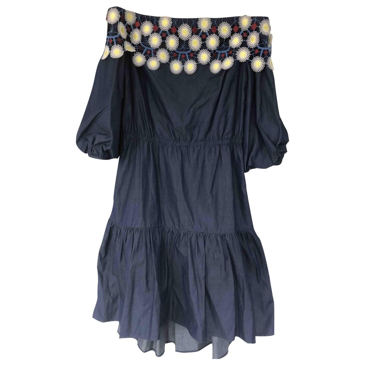 Peter Pilotto \N Kleid in  Blau Denim - Jeans