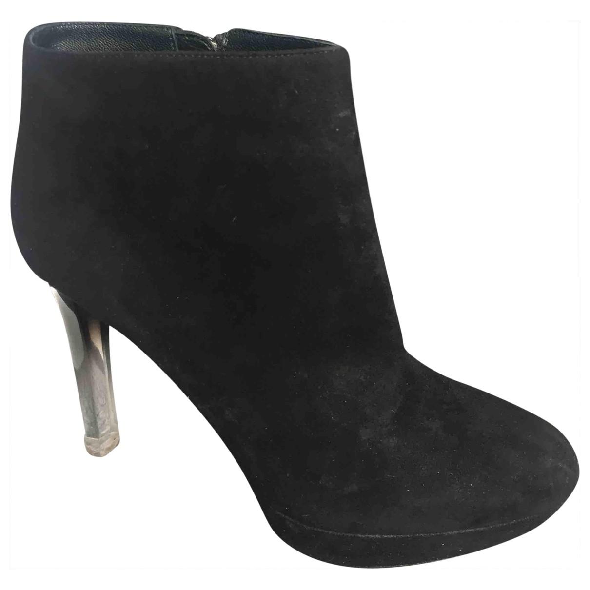 Alexander Mcqueen \N Black Suede Ankle boots for Women 7 UK