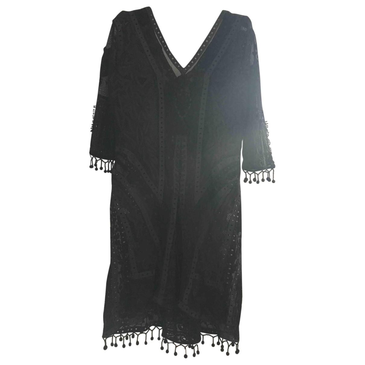 tophop \N Black Cotton dress for Women 10 UK