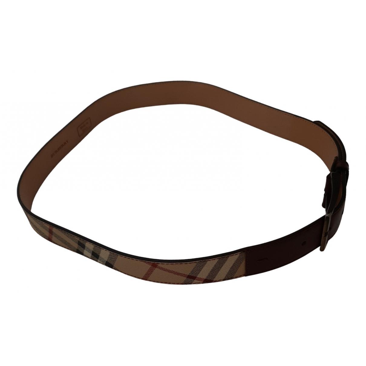 Burberry \N Beige Leather belt for Women M International