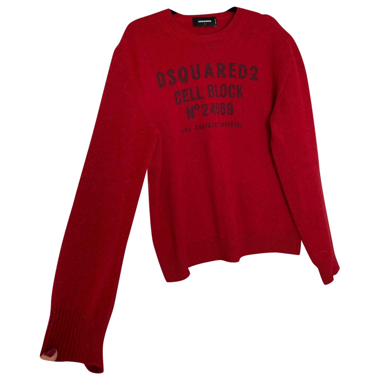 Dsquared2 \N Pullover.Westen.Sweatshirts  in  Rot Wolle