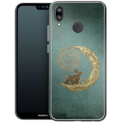 Huawei P20 Lite Silikon Handyhuelle - Moon Travel von Eric Fan