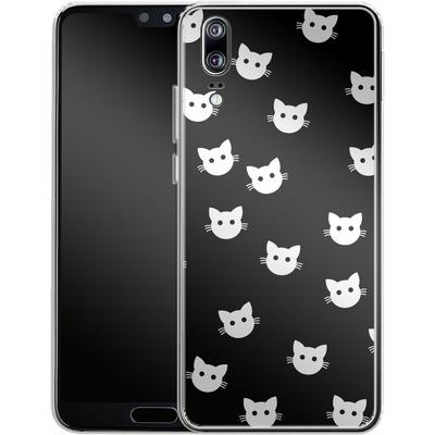 Huawei P20 Silikon Handyhuelle - Cat Pattern von caseable Designs