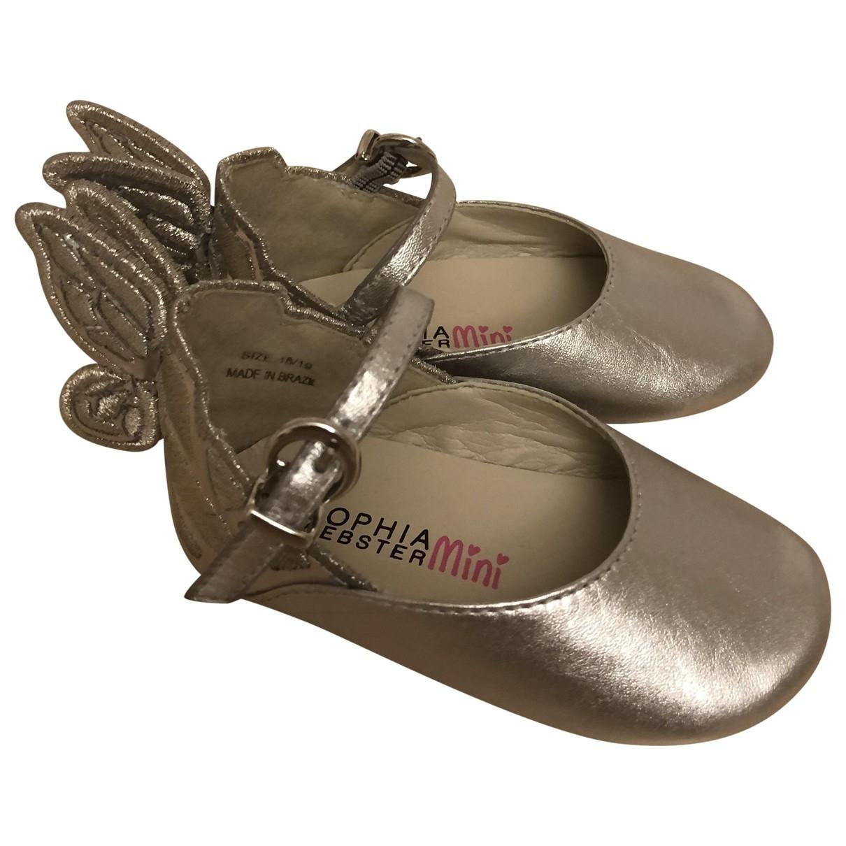 Sophia Webster - Sandales   pour enfant en cuir - argente