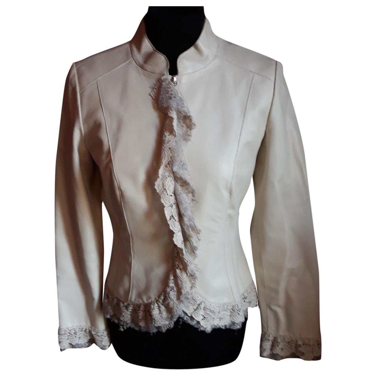 - Blouson   pour femme en cuir