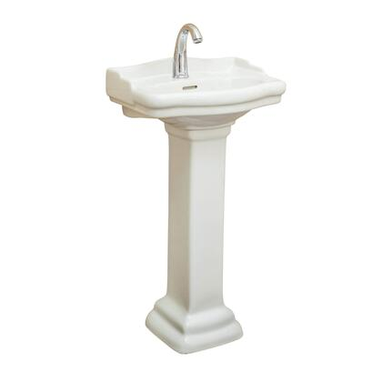 Roosevelt RS18BI1 18 Pedestal with Stain Resistant  Single Hole and Vitreous China Construction in