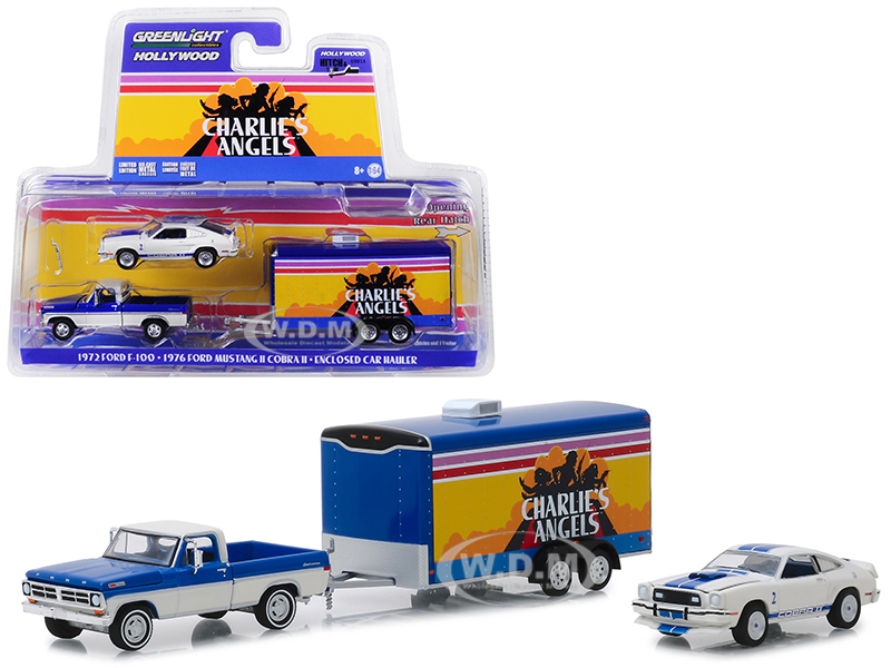 1972 Ford F-100 Pickup Truck with 1976 Ford Mustang II Cobra II and Enclosed Car Hauler