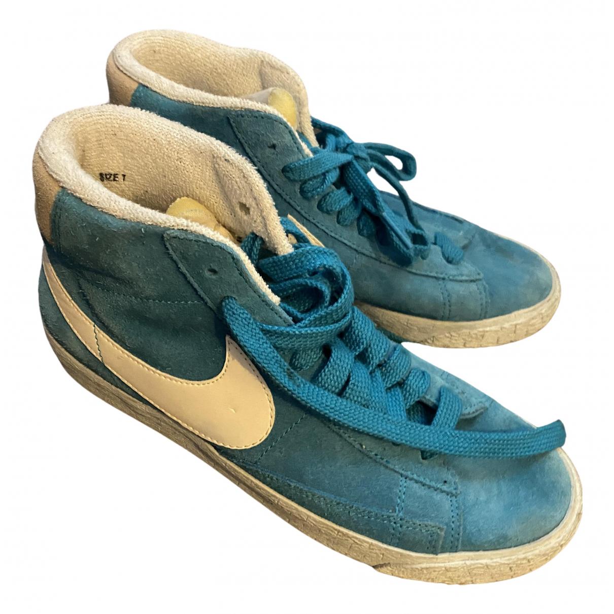 Nike Blazer Blue Velvet Trainers for Women 37 EU