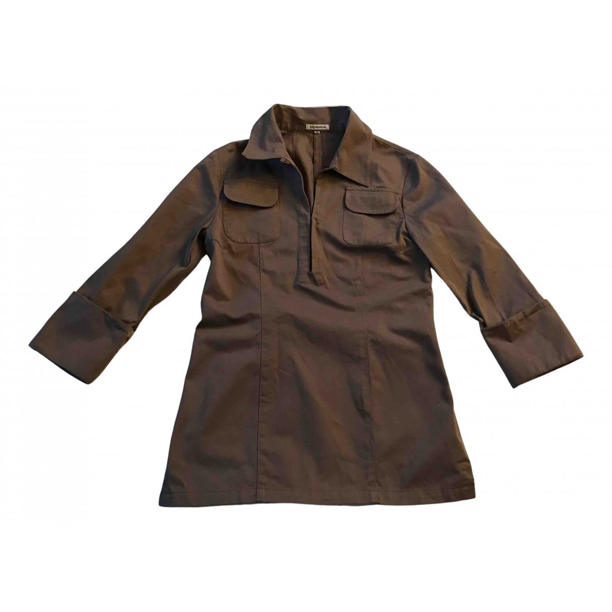 Costume National N Camel Cotton  top for Women 44 IT