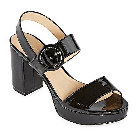 CL by Laundry Womens Gwenn Pumps Block Heel, 9 1/2 Medium, Black