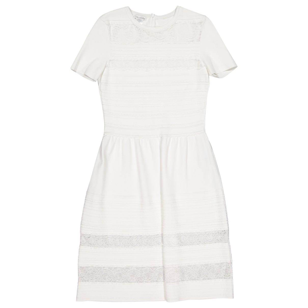 Oscar De La Renta \N White dress for Women 38 FR