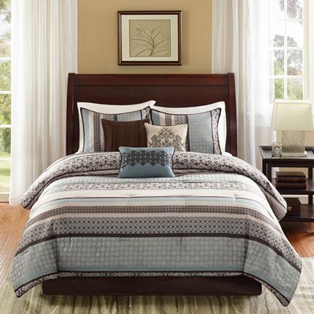 Madison Park Harvard 7-pc. Jacquard Comforter Set, One Size , Blue