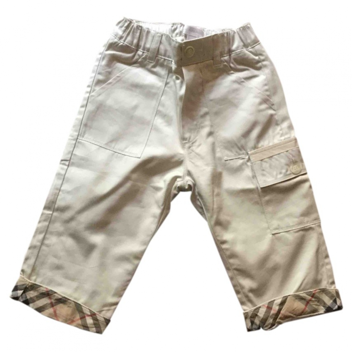 Burberry \N Beige Cotton Trousers for Kids 12 months - until 29 inches UK