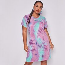 Plus Tie Dye Tee Dress