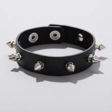 Studded Decor PU Bracelet
