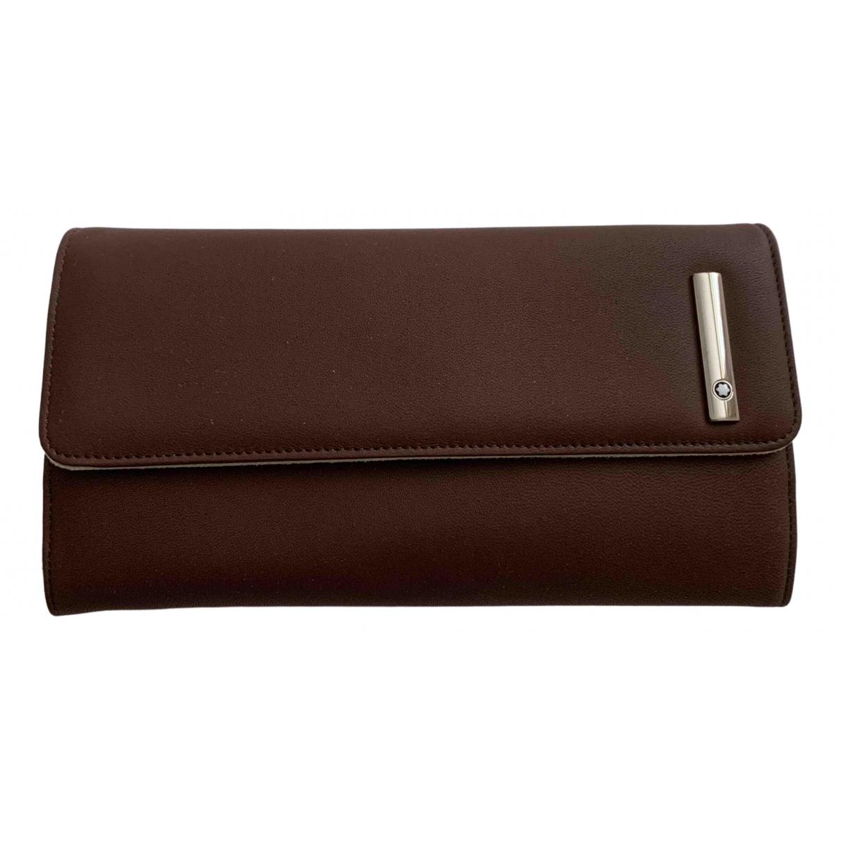 Montblanc - Portefeuille   pour femme en cuir - marron