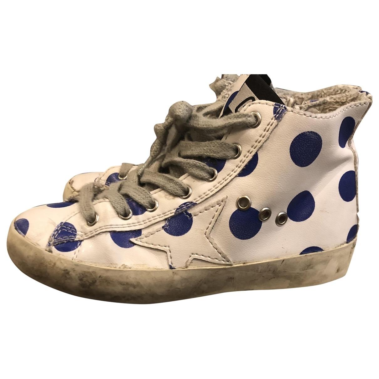 Golden Goose Francy Sneakers in  Blau Leder