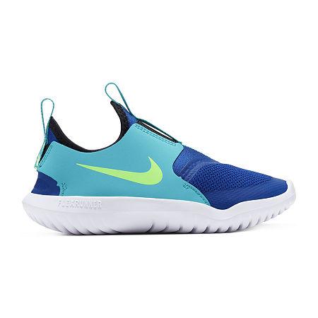 Nike Flex Runner Little Kids Boys Running Shoes, 1 Medium, Blue