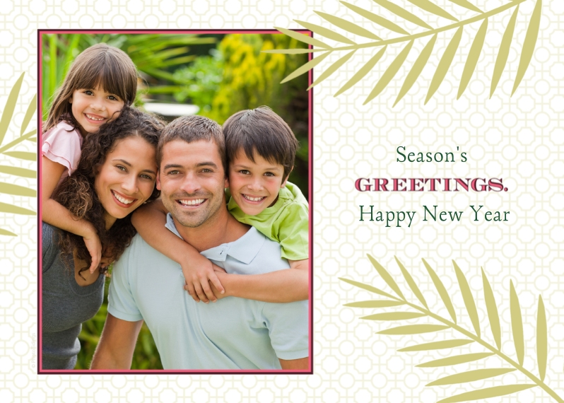 Holiday Photo Cards 5x7 Folded Cards, Standard Cardstock 85lb, Card & Stationery -Greetings