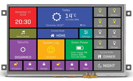 MikroElektronika MIKROE-2289 TFT LCD Colour Display / Touch Screen, 7in SVGA, 800 x 480pixels